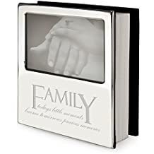 """Bañado en plata familia mensaje álbum de fotos/marco–""""pequeños momentos de la familia, hoy se convierten en recuerdos de la mañana"""""""