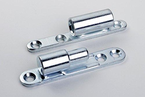 Hettich Renovierband zum Anschrauben, ø15 x 83,5 mm Stahl verzinkt, 2 Stück, 9130290