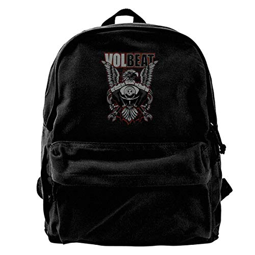 YANNAN Volbeat Backpack Unisex Classic School Bookbags Travel Bag 14Inch Laptop Bag Purse