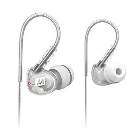 MEE audio Sport-Fi M6 Écouteurs intra-auriculaires à isolation acoustique et fils mémoire Transparent