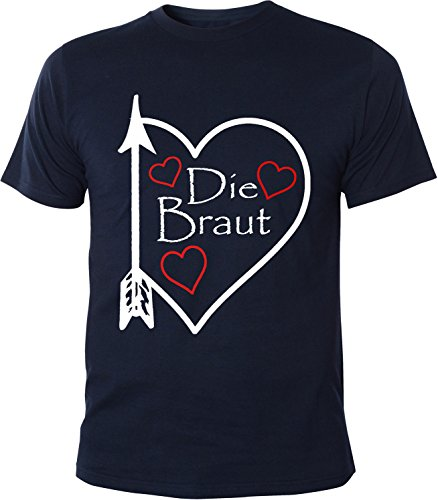 Mister Merchandise Herren Men T-Shirt Die Braut - JGA Junggesellinnenabschied Tee Shirt bedruckt Navy