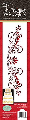 Designer Schablonen C375Fleur de Lis Kuchen Schablone, beige/halbtransparent Fleur De Lis-cookie