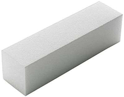 The Edge White Sanding Block 220/240 Grit 4-Way For a Soft Acrylic Nail Finish by The Edge