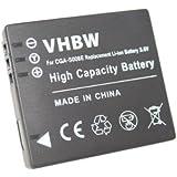 Set de 2 batteries 600 mAh pour caméscope Panasonic SDR-S7, SDR-S7E, SDR-S7EG-K, SDR-S7EG-S, SDR-S9, SDR-S9E, SDR-S9EG-K, SDR-S9EG-K