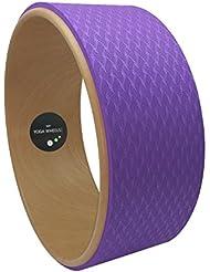 MyYogaWheels Roue de Yoga / Pilates Effet bois Idéal pour équilibre/fitness Support pour dos tout en s'étirant Positions Asana