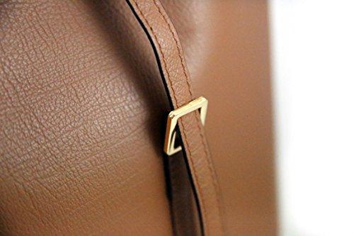 Pratica ed Elegante Borsa in pelle a spalla da Donna - Amica Moda BPL1097 Nero