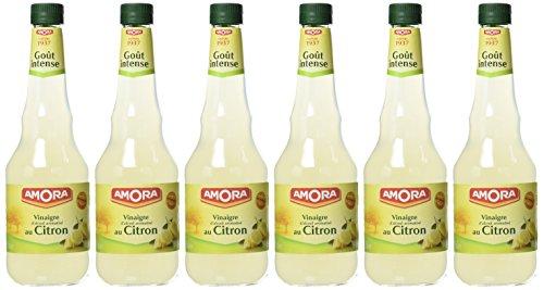 Amora Vinaigre d'Alcool Aromatise Citron 75 cl - Lot de 6