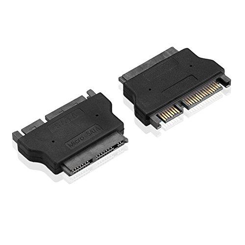 SIENOC Micro SATA 16pin weiblich zu SATA 7 + 15 22pin männlicher Adapter für 1.8 SSD HDD (Weiblich Verwandeln Männlich Zu)