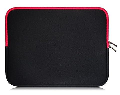 Sweet Tech Noir / Rouge Néoprène Housse Coque adapté pour Kobo Aura H20 6.8? Pouces eReader /