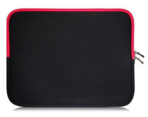 Sweet Tech Noir / Rouge Néoprène Housse Coque adapté pour Klipad 7 Pouces HD / Smart HD Tablette PC