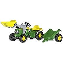FS 023110  - John Deere - Pedal tractor con pala frontal y remolque (168 cm) [Importado de Alemania]