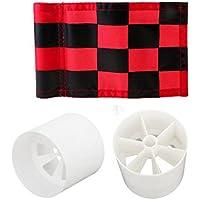 Baoblaze Bandera Nylon y Copa Plástica para Juegos y Diversiones de Golf al Aire Libre