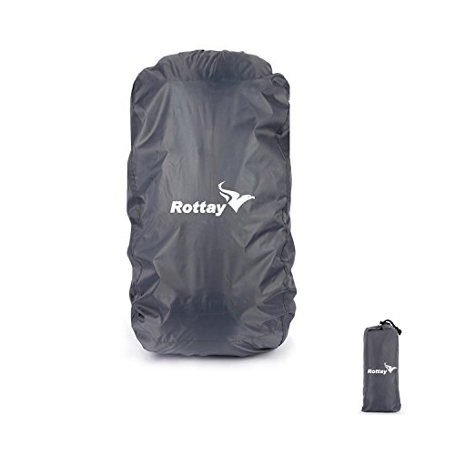 Wasserdichter Rucksack Regenschutz Cover Rottay (60l, 65l, 70l, 80l, 90l) Regenhüllen Regenabdeckung für Camping Wandern (Oxford Stoff)