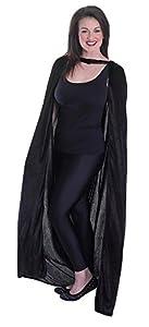 Bristol Novelty ac749terciopelo negro con capucha capa adulto capa (talla única)