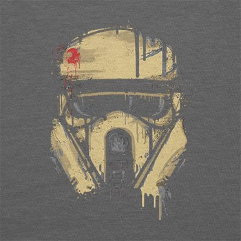 Texlab–Trooper Helmet Painting–sacchetto di stoffa Grau