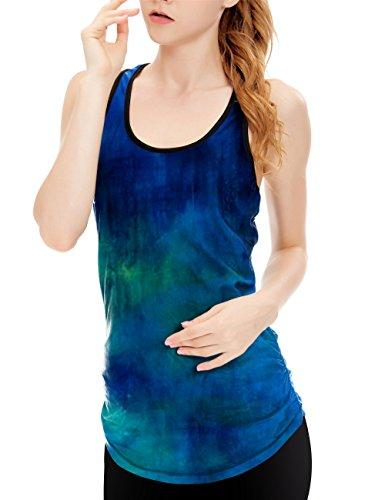 icyZone® Femme Débardeur Running Sans Manche Sport T Shirt Tank Top aurora