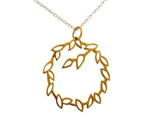 (Gemshine Handmade - Halskette - Lotus Blüten Garland - YOGA - 925 Silber - Vergoldet)