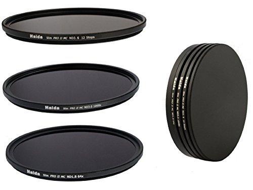 Slim PRO II Digital MC Neutral Graufilter Set bestehend aus ND8, ND64, ND1000 Filtern 55 mm inkl. Stack Cap Filtercontainer + Pro Lens Cap mit Innengriff
