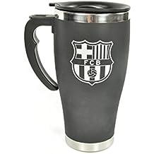 Viajes a Barcelona FC Club de Futbol Negro Cromo Taza del regalo del acero inoxidable Juegos de la tapa resistente Mercancia oficial del equipo