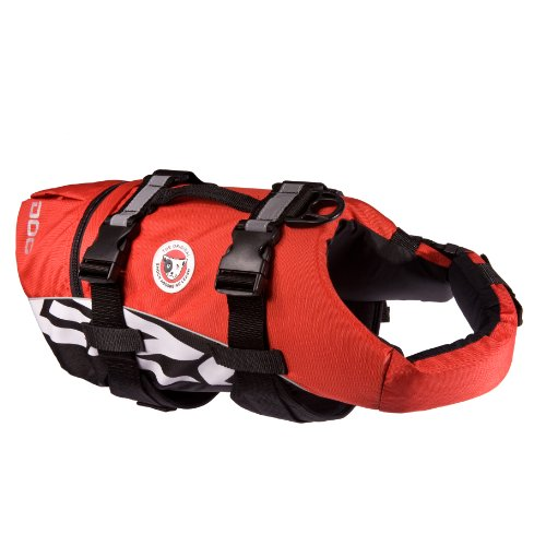 EzyDog Seadog Hunde-Schwimmweste, Größe M, rot