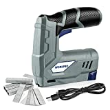 WORKPRO 3.6V Cordless Electric Staple Gun/Stapler/Tacker/Staple & Nail Gun 2-in-1, Rechargable Li-ion Battery