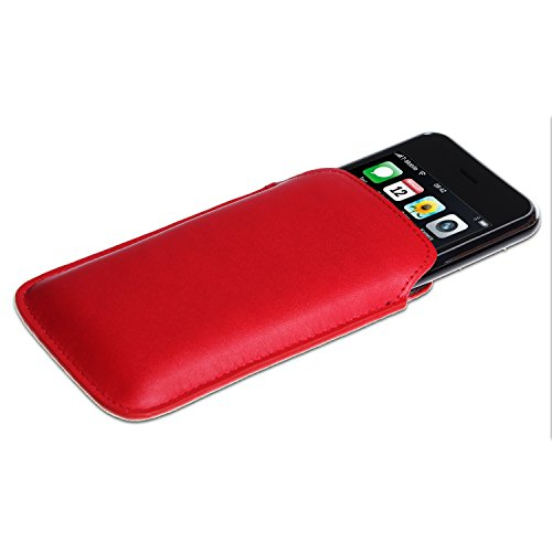 wortek Tasche Apple iPhone 3G / 3GS / 4 / 4S Etui Schwarz Glossy Rot Matt