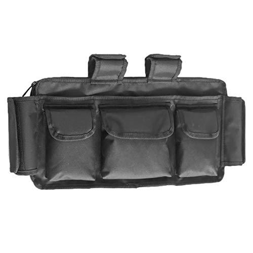 Rollstuhl Seite Tasche (perfeclan Rollstuhl-Seitentasche Mobilitätshilfe, Seniorenhilfe, Armlehne, Hängegriff, Aufbewahrungstasche)