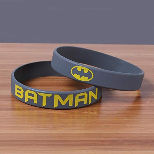 DuDuDu SilikonarmbäNder Kinder Batman-Armband Weiches Silikonarmband (5 Paare) (Kinder Für Batman-outfits)