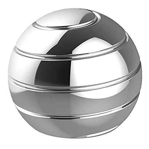 CHENC Gyroskop, Desktop-Kugelrolle Gyro Schreibtisch Spielzeug Mit Täuschungs Für Stress Relief Anti Angst Stress Abzubauen Für Kinder,Silber