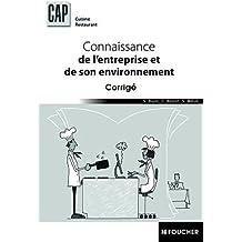 Connaissance de l'entreprise et de son environnement CAP Corrigé