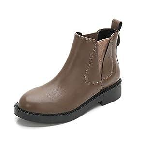 Top Shishang Herbst und Winter weibliche elastische Stretch-Leder Flache Martin Stiefel Chelsea Stiefel und Stiefeletten westlichen Stiefeletten