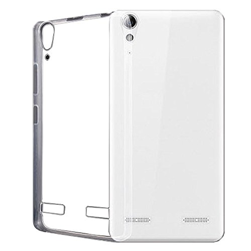 Heartly Ultra Thin 0.3mm Clear Transparent Flexible Soft TPU Slim Back Case Cover For Lenovo A6000 A6000+ Plus  available at amazon for Rs.119