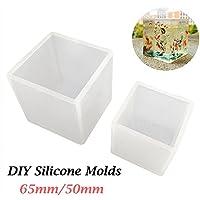Frenshion 50mm de Cristal de Epoxy Molde de Silicona Craft Molde DIY Forma de Cubo Collar