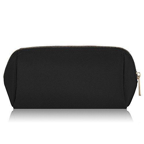 CHICECO Nylon Klein Kosmetiktasche Damen Schminktasche für Handtasche Makeup Tasche - Schwarz