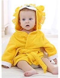Hollwald 0-12 Mois Peignoir de Bain Bébé Robe de Chambre en Polaire Capuche Sortie de Bain Pour Bébé Nouveauté de Style Animé en Peluche Oreilles
