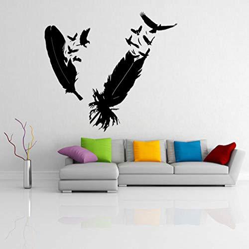 wukongsun Vinyl wandaufkleber wohnkultur Wohnzimmer Selbstklebende entfernbare Wand hochwertigen Aufkleber Wohnzimmer schwarz 63x56 cm