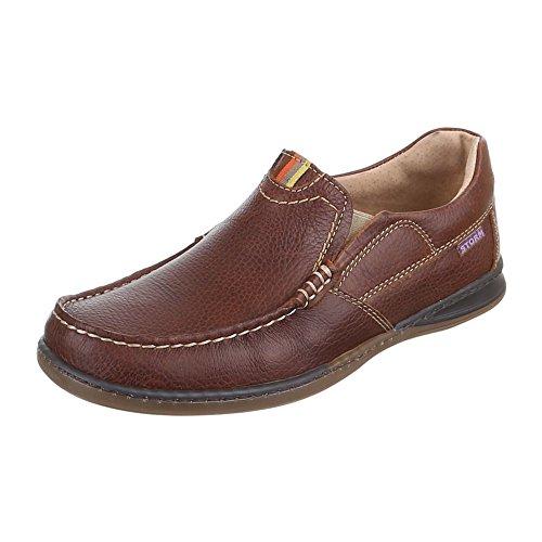 HALBSCHUHE 3492 Schuhe LEDER MOKASSINS Herren Braun zBUqwS