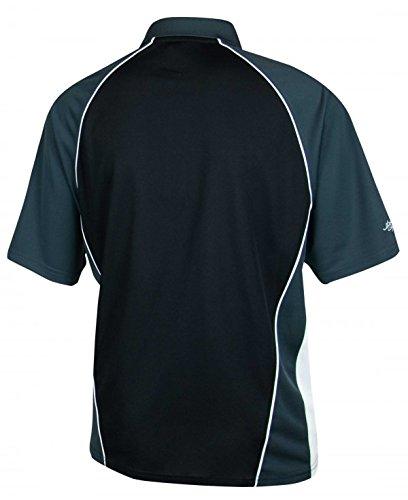 Guinness® Herren Performance Golf Shirt Schwarz und Grau