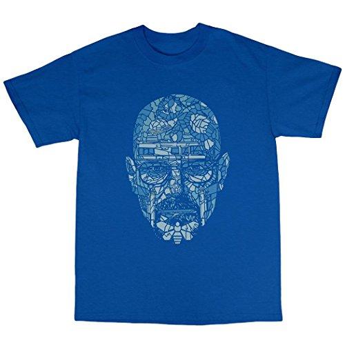 Walter White Blue Meth T-Shirt 100% Baumwolle Königsblau