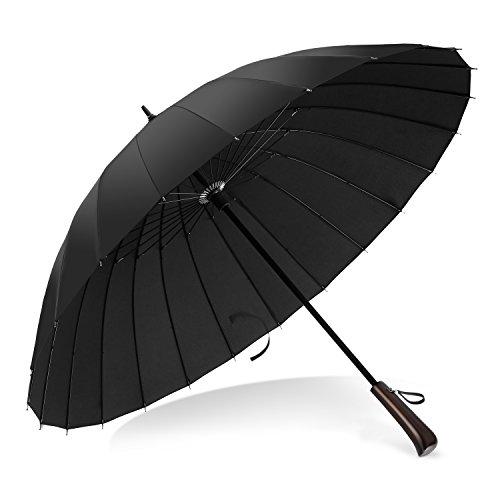 VONDAVO 47 Inch Golf Paraguas Plegables de Viaje Sistema Automático d