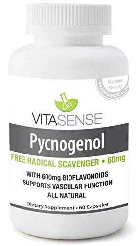 PREMIUM Pycnogenol und Bioglavonoiden -freie radikale Scavenger - 30mg 60 Kapseln by TARGARIAN