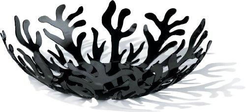alessi-esi01-29-b-mediterraneo-fruttiera-in-acciaio-colorato-con-resina-epossidica-nero