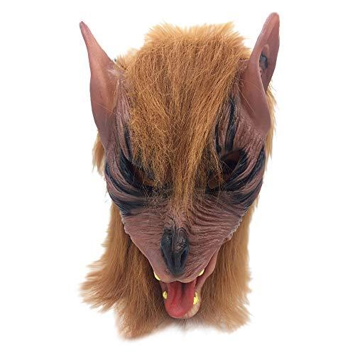 ALIKEEY Halloween Horror Tier Kopf Simulation Maske Kopfbedeckungen für die Partei Spielzeug Geschenk ()