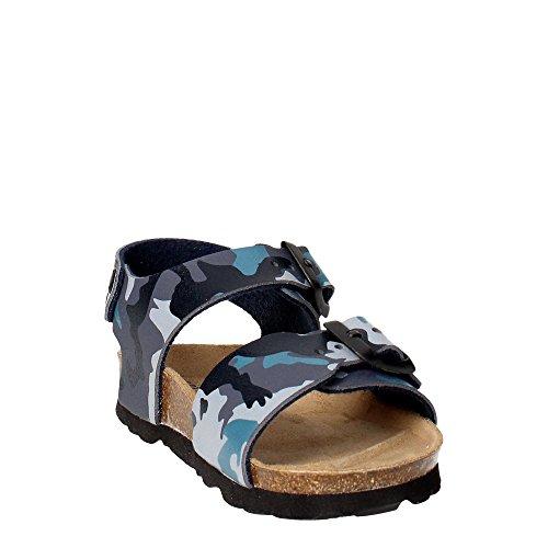 Grünland LUMIÈRE SB0115 24/30 bleues sandales militaires enfant boucles Birk Militare/Blu