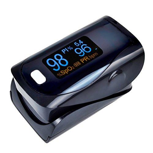 StarHealth SH-K3 CE&FDA LED Display Finger Pulse Oximeter Blood Oxygen SPO2 PR Saturation Oximetro Monitor (Black)