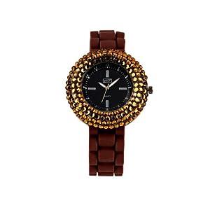 Eton 2885-2 – Reloj analógico de Cuarzo para Mujer con Correa de Silicona, Color marrón