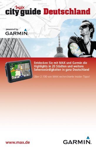 Garmin Max City Guide Deutschland Datenkarte (Tipps zu 20 Deutschen Städten) für Garmin Navigationsgeräte Garmin Datenkarte