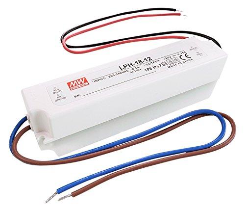 MeanWell d'alimentation, LPH de 18–12, spannungskonstant, 180–264V, AC/50–60Hz, 12V, DC, 0–1,5A, 18W 872610