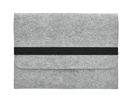"""11-17 pouces Sac à Main étui de Transport Housse pour Ordinateurs Portables Ultrabook Netbook Sac à Main pour MacBook 17"""" Gris clair"""