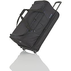 Travelite Sac de voyage à roulettes Basics 70cm noir/bleu Reisetasche, 70 cm, 98 liters, Mehrfarbig (Noir/bleu)